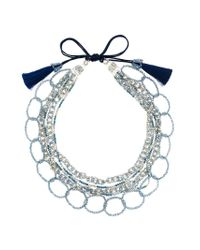 Night Market | Blue Bead Layers Necklace | Lyst