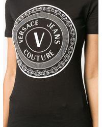 Camiseta con logo estampado Versace Jeans de color Black