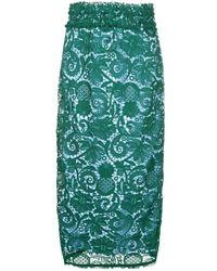 N°21 ペンシルスカート Green