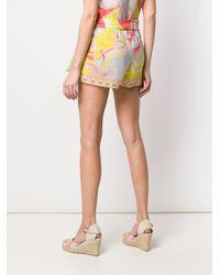 Emilio Pucci コットン&シルク ラップスカート Multicolor