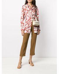 Erika Cavallini Semi Couture クロップド ストレートパンツ Multicolor