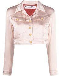 Giacca crop Pre-owned di Dior in Pink