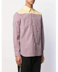 メンズ N°21 ギンガムチェック シャツ Yellow