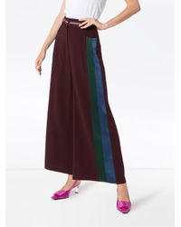 Peter Pilotto Red Cady Striped Culottes