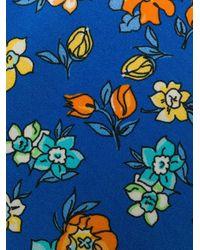 Cravate à fleurs Fefe pour homme en coloris Blue