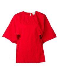 Blusa oversize efecto arrugado Ports 1961 de color Red