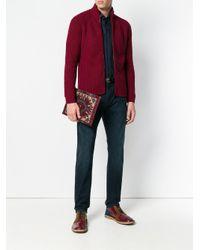 Pochette à broderie Etro pour homme en coloris Red
