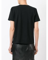 Saint Laurent Black Moon Print T-shirt