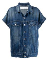 Veste en jean à manches courtes IRO en coloris Blue