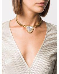 Collier ras-du-cou à médaillon Alessandra Rich en coloris Metallic