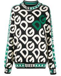 Initials logo print sweater di Dolce & Gabbana in Black