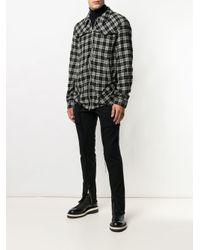 Undercover Black Plaid Shirt Jacket for men