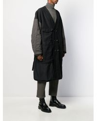 Cappotto oversize reversibile di Ziggy Chen in Black da Uomo
