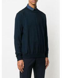 Приталенный Свитер С Длинными Рукавами Ferragamo для него, цвет: Blue