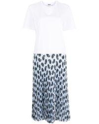 MSGM レイヤード Tシャツワンピース White