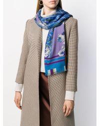 Etro フローラル スカーフ Blue