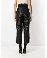 Tufi Duek Black High Wisted Metallic Trousers