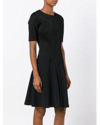 A.F.Vandevorst Black Flared Dress