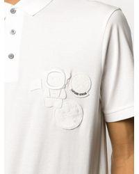 メンズ Emporio Armani ロゴパッチ ポロシャツ White