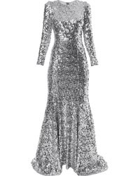 Robe longue Dolce & Gabbana en coloris Metallic