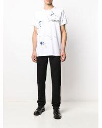 メンズ Helmut Lang ペイント Tシャツ White