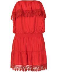 Melissa Odabash Joy レースドレス Red