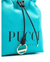 Emilio Pucci ロゴ ミニバッグ Blue
