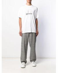 T-shirt à imprimé graphique Burberry pour homme en coloris White