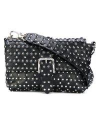 RED Valentino Black Flower Puzzle Shoulder Bag