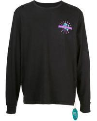 メンズ Pasadena Leisure Club ロゴ ロングtシャツ Black