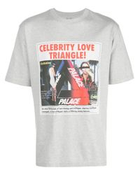 Palace 'Love Triangle' T-Shirt in Gray für Herren