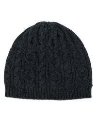 1f7eff1f082 Pringle of Scotland Cable Knit Beanie in Gray for Men - Lyst