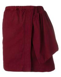 N°21 アシンメトリー スカート Red