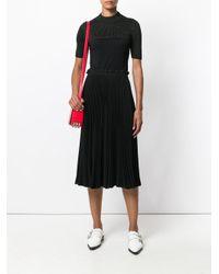 RED Valentino - Metallic Bicolour Knit T-shirt - Lyst