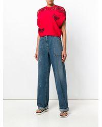 Valentino Blue Wide Leg Denim Jeans