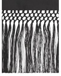 Sciarpa con frange di Burberry in Black