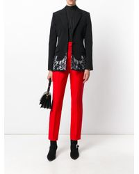 Givenchy Black Lace Embroidered Blazer