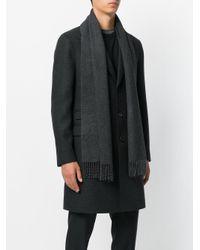 Neil Barrett Gray Single Breasted Coat for men