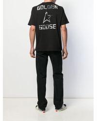 メンズ Golden Goose Deluxe Brand バックロゴ Tシャツ Black