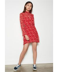 The Fifth Label - Red Apricity Long Sleeve Dress - Lyst