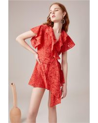 C/meo Collective - Red More To Give Playsuit - Lyst