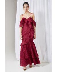 Keepsake - Red Shine Gown - Lyst