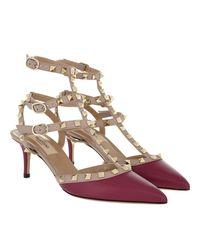 Valentino Multicolor Rockstud Decollete Pump Ankle Strap Camelia