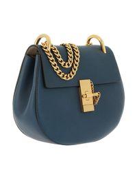 Chloé   Drew Crossbody Bag Goatskin Denim Blue   Lyst