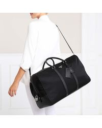 Prada Duffle Bag Nylon/leather Black