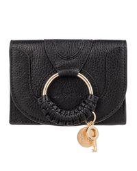 See By Chloé Hana Card Holder Leather Black