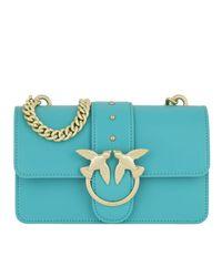 Mini Love Simply Crossbody Bag Blue Transparente Pinko
