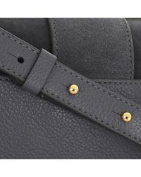 Coccinelle Gray Handbag Suede Leather