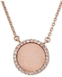 Michael Kors | Pink Rose Gold-tone Blush Necklace | Lyst