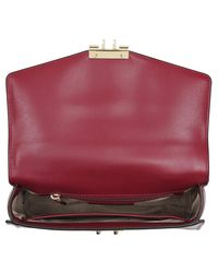 Michael Kors Red Sloan Md Th Satchel Mulberry
